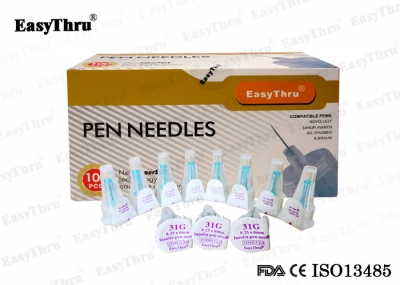 EasyThru Disposable medical Insulin pen needle 31G*6mm 0.25mm for diabetes