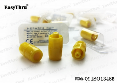 Disposable Heparin Cap Luer Lock Surgical Products for I.V. Cannula