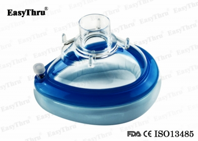 Medical Disposable PVC Air Cushion Anesthesia Face Masks With CE ISO